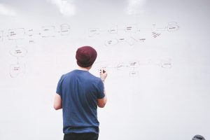 whiteboard, man, presentation